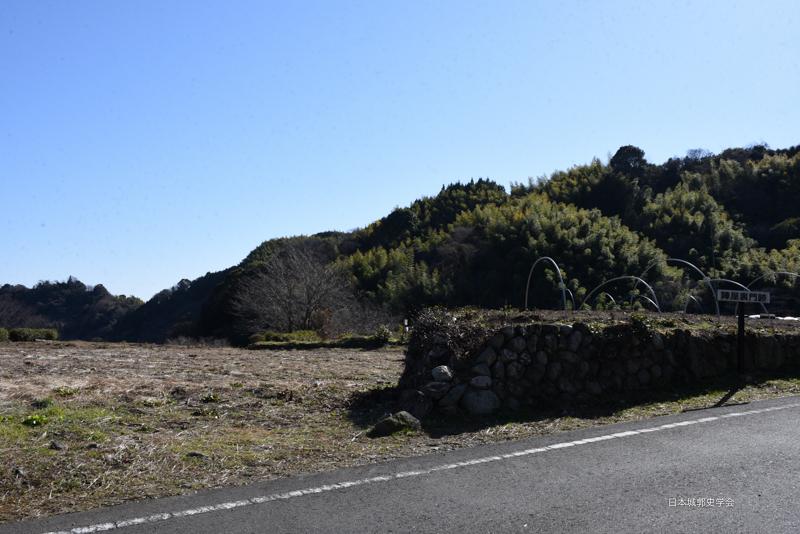 小島陣屋裏門跡付近