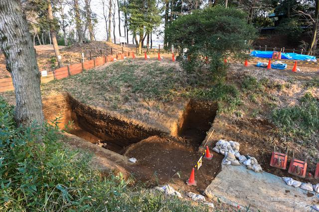 滝の城平成29年度発掘調査現場